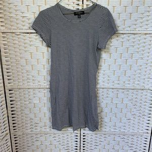Urban Outfitters Navy/White Stripe T-shirt Dress